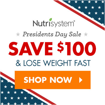 Nutrisystem President's Day special discount offer