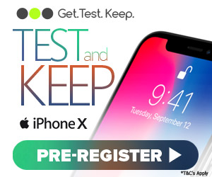Test and keep the iPhone X - UK
