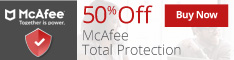 McAfee Banner for Protection