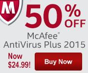 McAfee AntiVirus Plus Banner